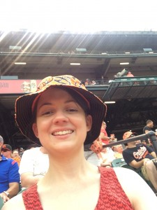 Megan at O's game
